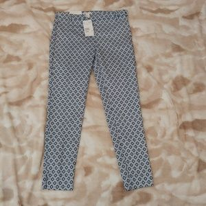 H & M Super Stretch Blue Print Slacks NWT - Size 6